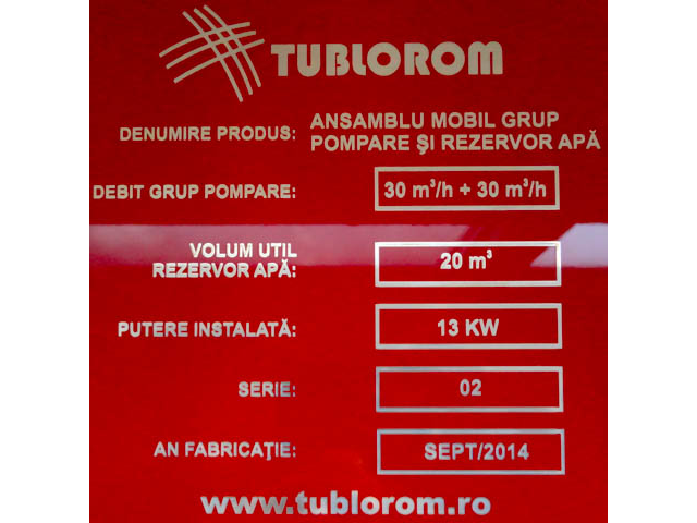 Placa identificare din aluminiu eloxat